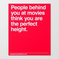 Perfect Movie Height Canvas Print