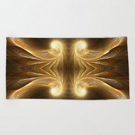 Golden Spiral Beach Towel