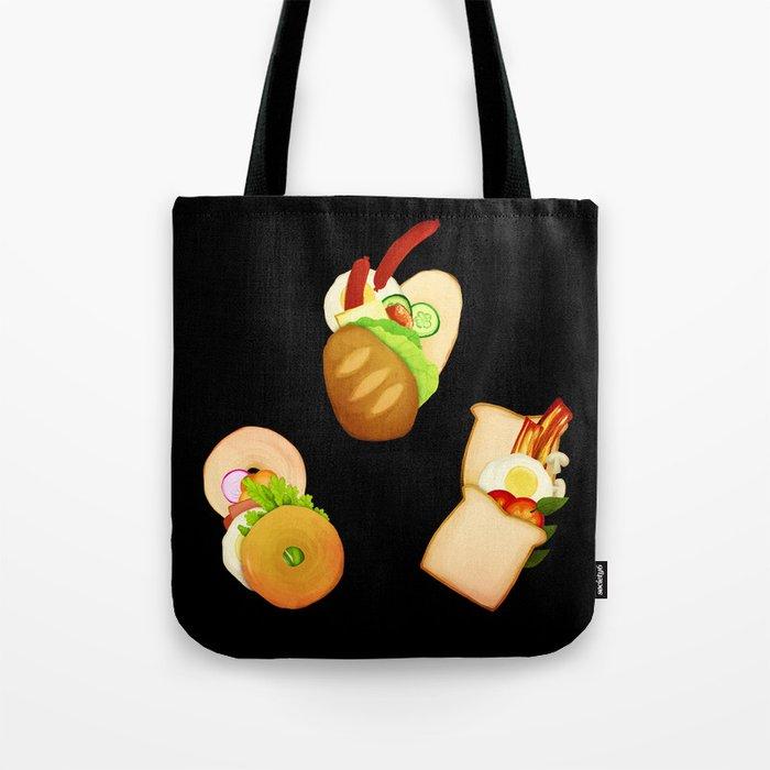 Bread and Sandwiches Tote Bag