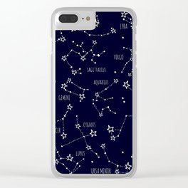 Space horoscop Clear iPhone Case