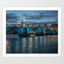 St Paul's Cathedral at Night Art Print