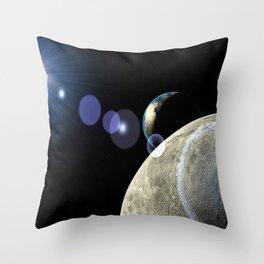 Moon Earth Throw Pillow