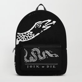 Join or Die in Black and White Backpack