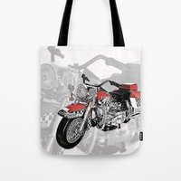 motorbike Tote Bags featuring MotorBike by tuncay cavdar