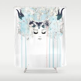 The Horned One Shower Curtain