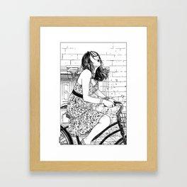 asc 340 - Les mystères de Barcelone V (The cobblestones in the Barrio Gotico) Framed Art Print