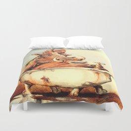 warthog's bath Duvet Cover