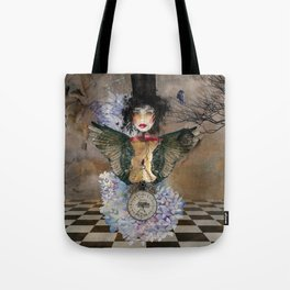 Lady in a Black Hat Tote Bag