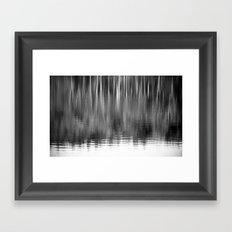 Abstract Trees Monochrome Framed Art Print