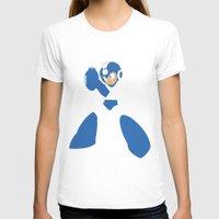 mega man T-shirts featuring Mega Man - Minimalist - Nintendo by Adrian Mentus