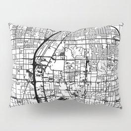 Las Vegas city map Pillow Sham