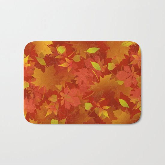 Autumn Leaves Carpet Bath Mat