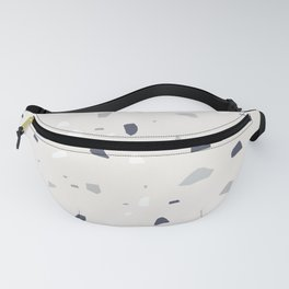 Midnight Navy Gray Creme Terrazzo #1 #decor #art #society6 Fanny Pack