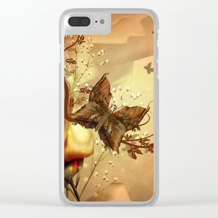 Wonderful fantasy butterflies Clear iPhone Case