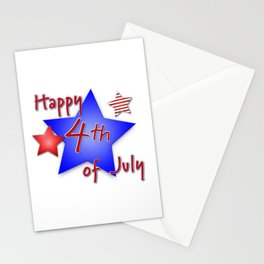 Happy 4th of July Stars - Independence Day Stationery Cards