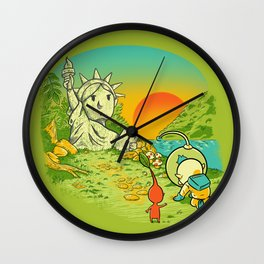 Planet of the Pikminis Wall Clock