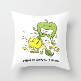 When Life Gives You Lemons by dana alfonso Throw Pillow
