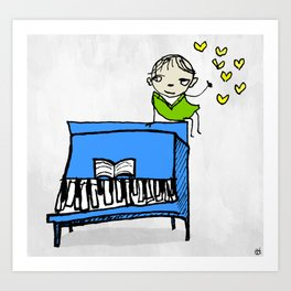 piano of love Art Print