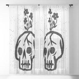 death & life Sheer Curtain