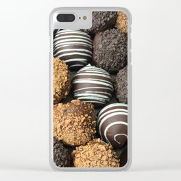 Truffle Chocoholic Fudge Mania Clear iPhone Case