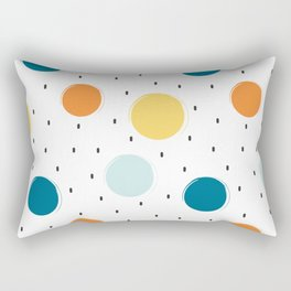 cute colorful pattern with grunge circle shapes Rectangular Pillow