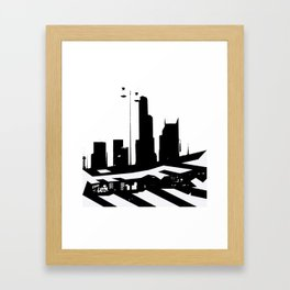 City Scape in Black and White Framed Art Print