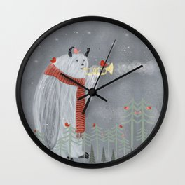 dawn chorus Wall Clock