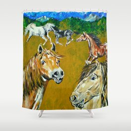 Peruvian Paso Horses Shower Curtain
