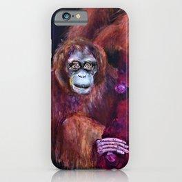 Patient Orangutan Mum and Her Naughty Child iPhone Case