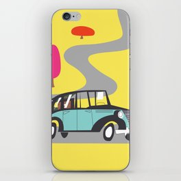 vintage car cartoon iPhone Skin