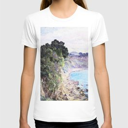 The cliff coast of Sanary, Provence - Digital Remastered Edition T-shirt
