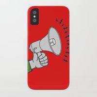 propaganda iPhone & iPod Cases featuring Megaphone propaganda by Et Voilà