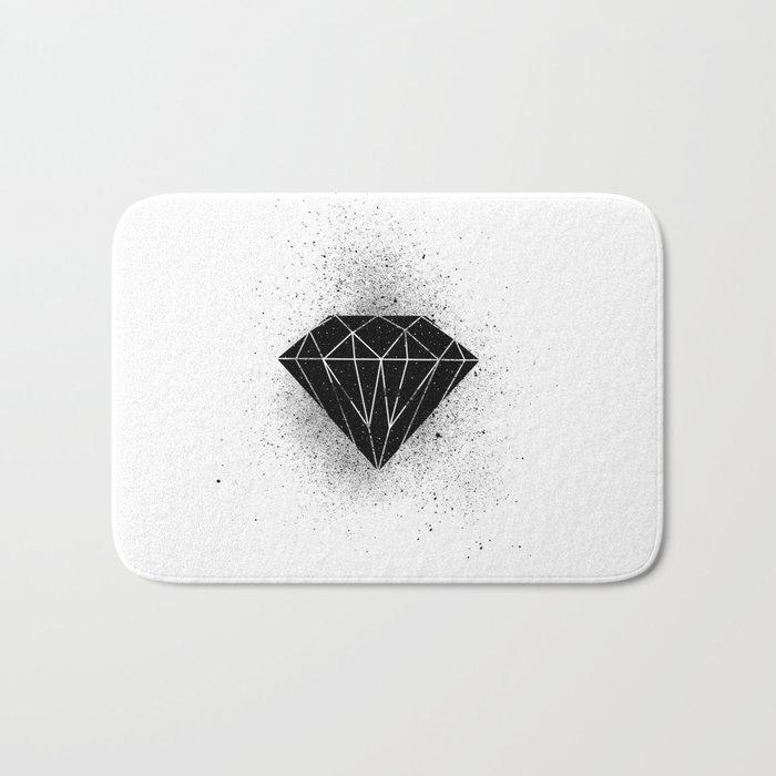 Black diamond! Bath Mat