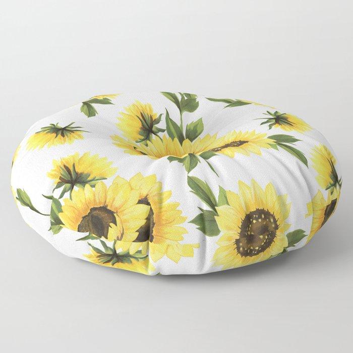 Lovely Sunflower Floor Pillow
