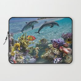 Coral Reef and Dolphins Laptop Sleeve