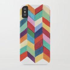 Rainbow Chevron iPhone X Slim Case