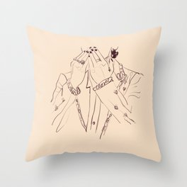 Treat people with kindness Throw Pillow