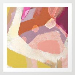 Ablaze Abstract Painting Art Print