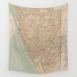 Vintage Map of Buffalo NY (1895) Wall Tapestry