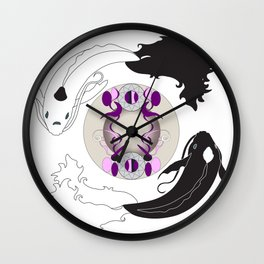Yin and Yang (with ornamentation) Wall Clock