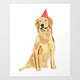 Birthday Puppy! Art Print