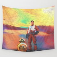 poe Wall Tapestries featuring Poe Dameron by DisPrints