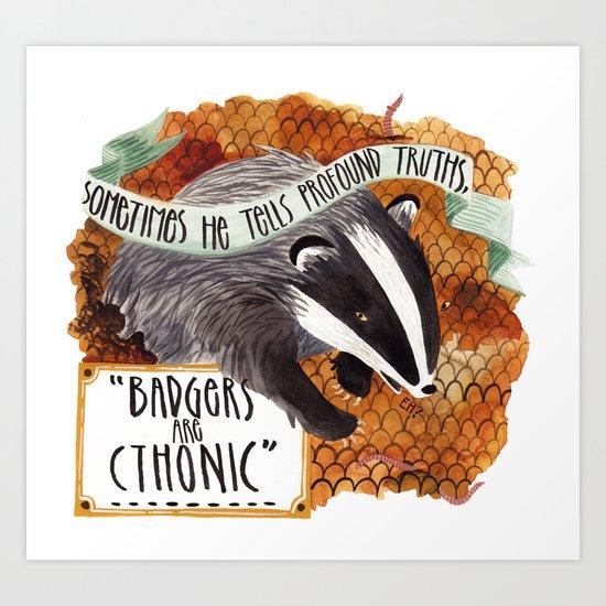 Badgers Art Print