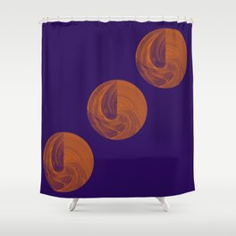 Sphere Geometry Night Abstract Shower Curtain