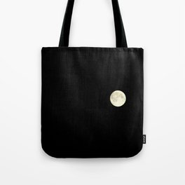 The moon over my balcony Tote Bag