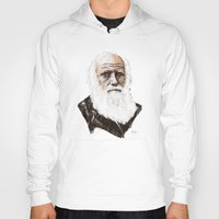 darwin Hoodies featuring Darwin - great man by graphicbrain