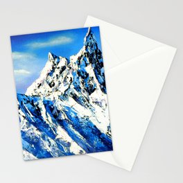 Panoramic View Of Everest Mountain Peak Stationery Cards