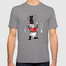 On the various things that can grow out of stove pipe hats. Mens Fitted Tee Tri-Grey LARGE
