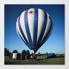 Red, White, and Blue Balloon Launch Canvas Print