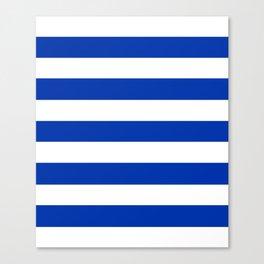 UA blue - solid color - white stripes pattern Canvas Print